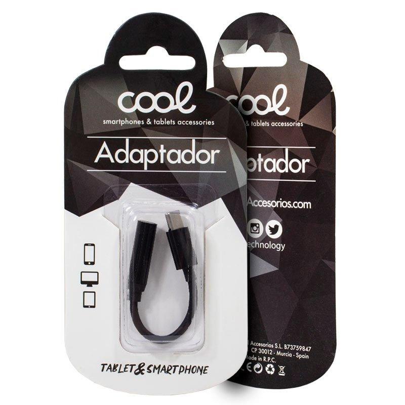 Adaptador Conector Tipo C a Jack 3,5 mm COOL (Universal)