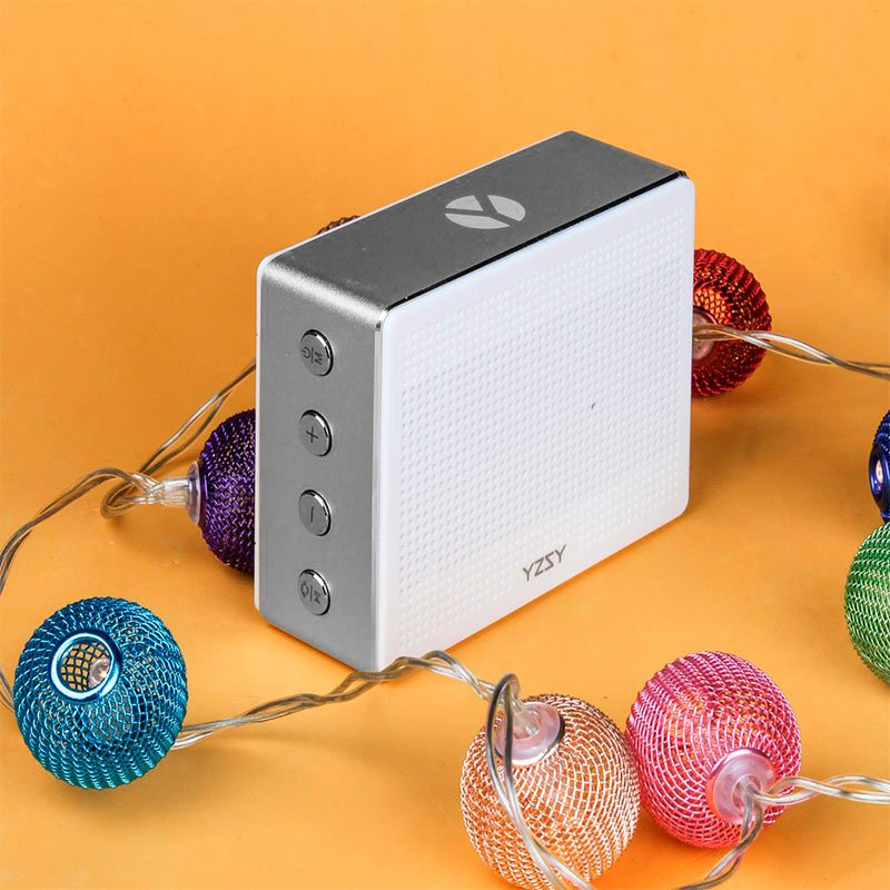 Altavoz Bluetooth Rectangular Metal YZSY Minti Silver