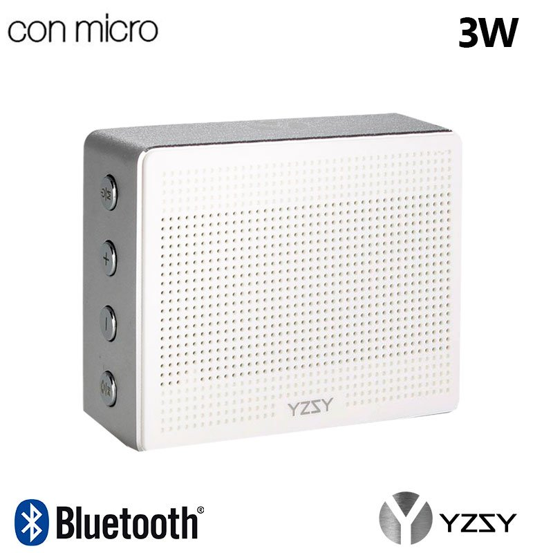 Altavoz Bluetooth Rectangular Metal YZSY Minti Silver