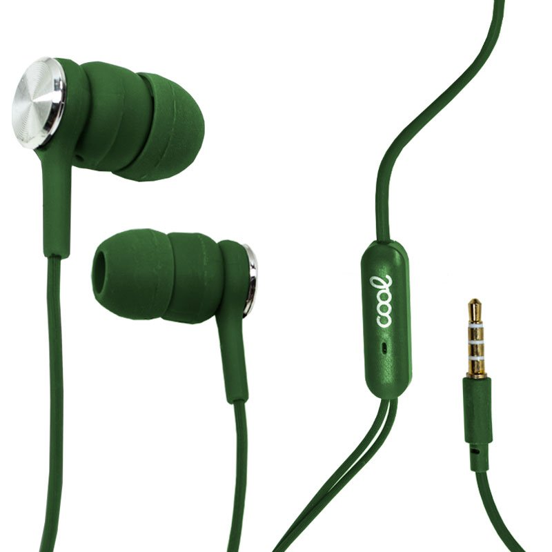 Auriculares 3,5 mm COOL Bali Stereo Con Micro Verde
