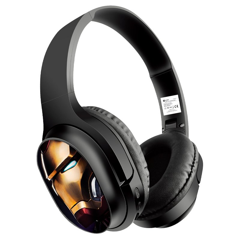 Auriculares Stereo Bluetooth Cascos Licencia Oficial Marvel Ironman