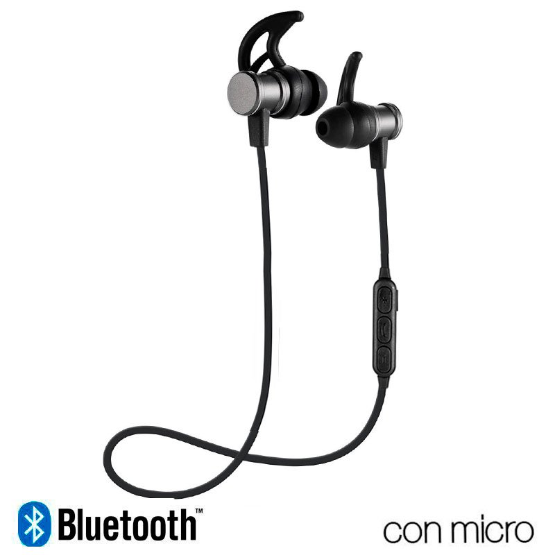 Auriculares Stereo Bluetooth Deportivos COOL Magnetic Gris