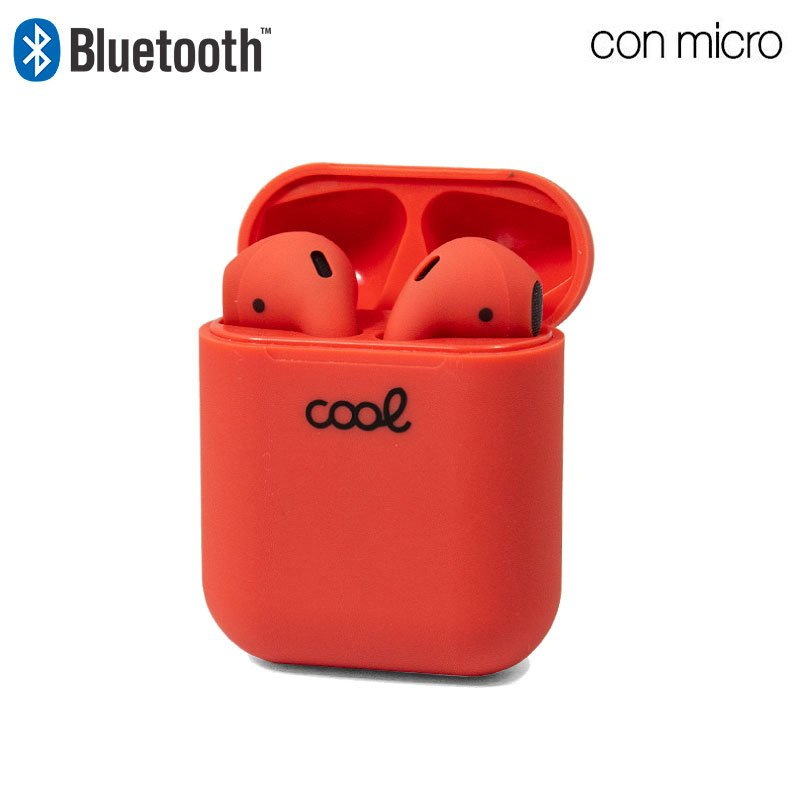 Auriculares Stereo Bluetooth Dual Pod COOL AIR V2 Rojo