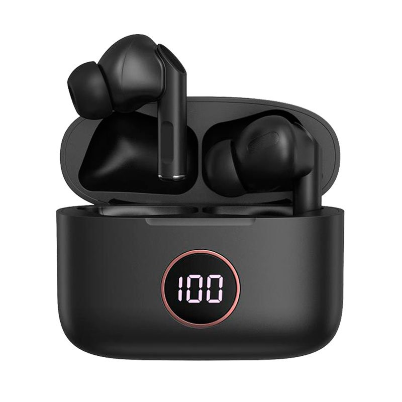 Auriculares Stereo Bluetooth Dual Pod Earbuds Lcd COOL AIR PRO Negro