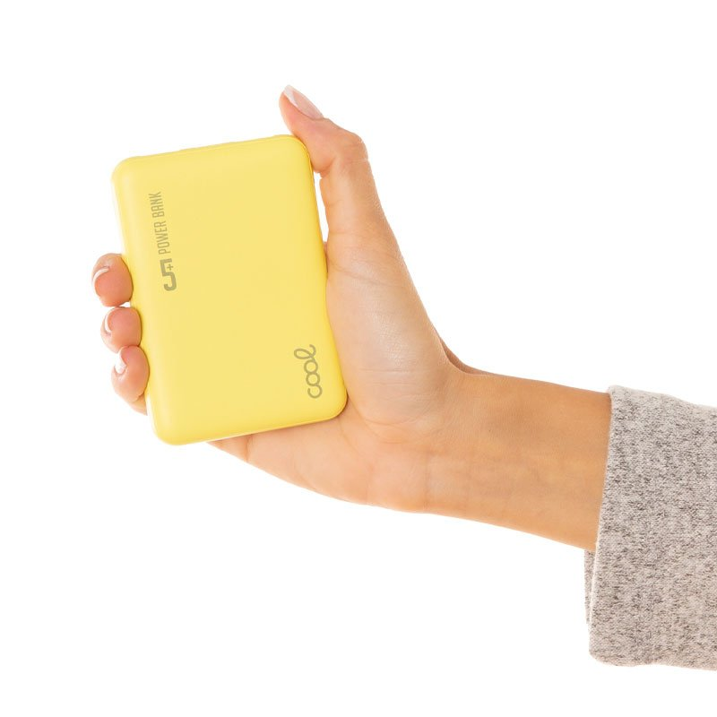 Bateria Externa Micro-usb Power Bank 5000 mAh COOL Leather Amarillo