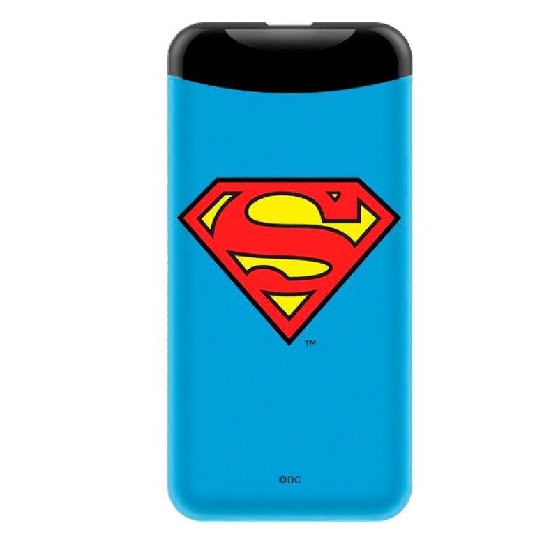 Bateria Externa Micro-usb Power Bank 6000 mAh Licencia DC Superman