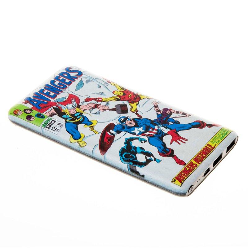 Bateria Externa Micro-usb Power Bank 8000 mAh Universal Licencia Marvel Avengers