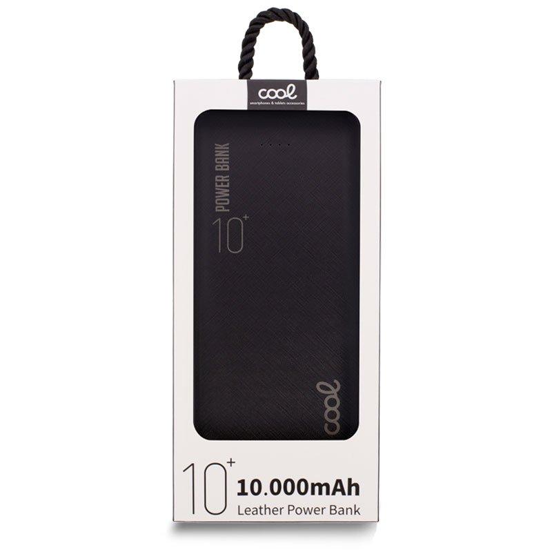 Bateria Externa Universal Power Bank 10.000 mAh (2 x usb / 2.1A) COOL Leather Negro