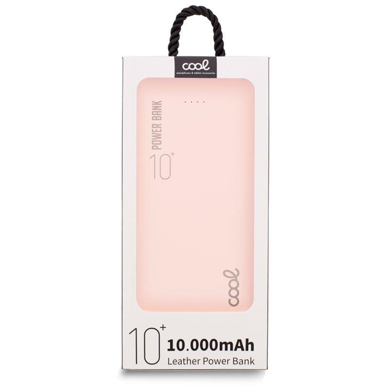 Bateria Externa Universal Power Bank 10.000 mAh (2 x usb / 2.1A) COOL Leather Rosa