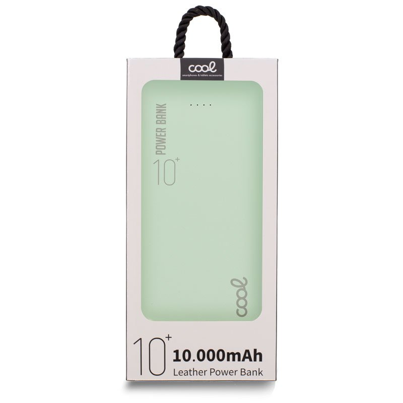 Bateria Externa Universal Power Bank 10.000 mAh (2 x usb / 2.1A) COOL Leather Verde