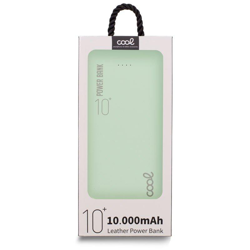 Bateria Externa Universal Power Bank 10.000 mAh (2 x usb / 2.1A) COOL Leather Verde
