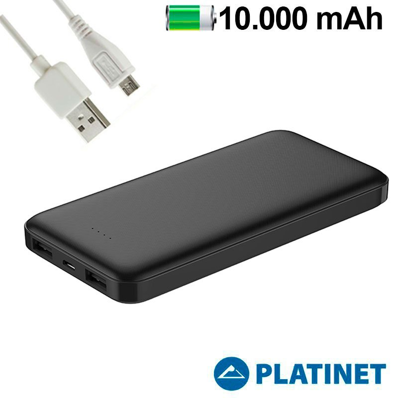 Bateria Externa Universal Power Bank 10.000 MAh (2 X Usb / 2.1A) Polimero Platinet