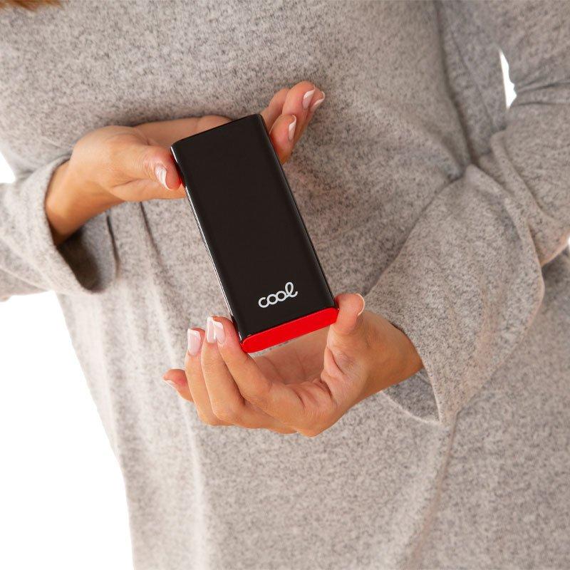 Bateria Externa Universal Power Bank 10.000 mAh (2 x usb / 2A) COOL Display Negro-Rojo