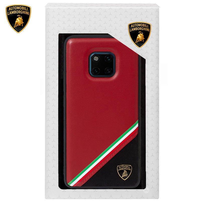Carcasa Huawei Mate 20 Pro Licencia Lamborghini Piel Rojo