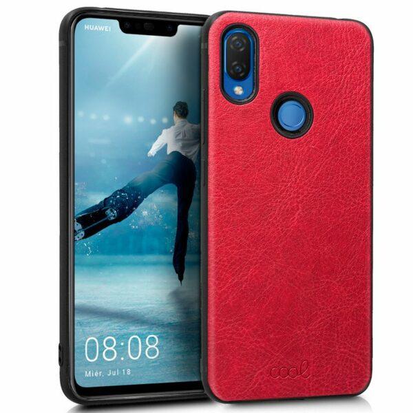 Carcasa Huawei P Smart Plus Leather Piel Rojo