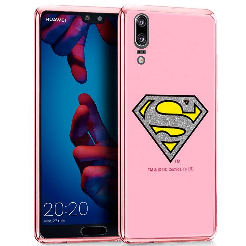 Carcasa Huawei P20 Licencia DC Glitter Superman