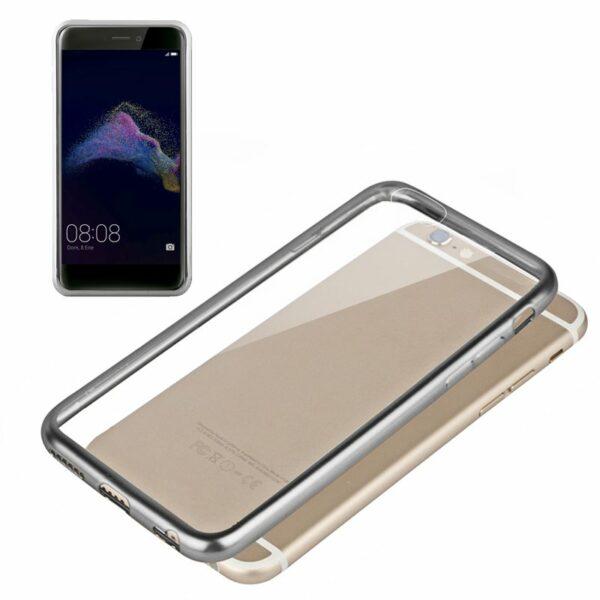 Carcasa Huawei P8 Lite (2017) Borde Metalizado (Plata)