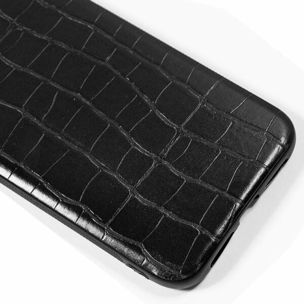 Carcasa iPhone 11 Leather Crocodile Negro