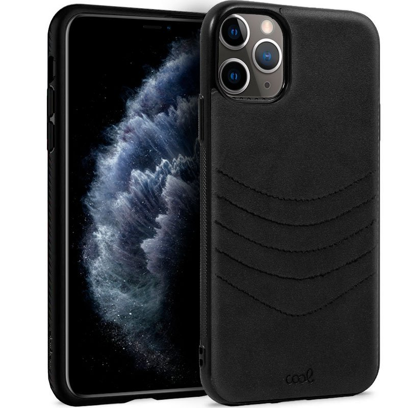Carcasa iPhone 11 Pro Leather Bordado Negro