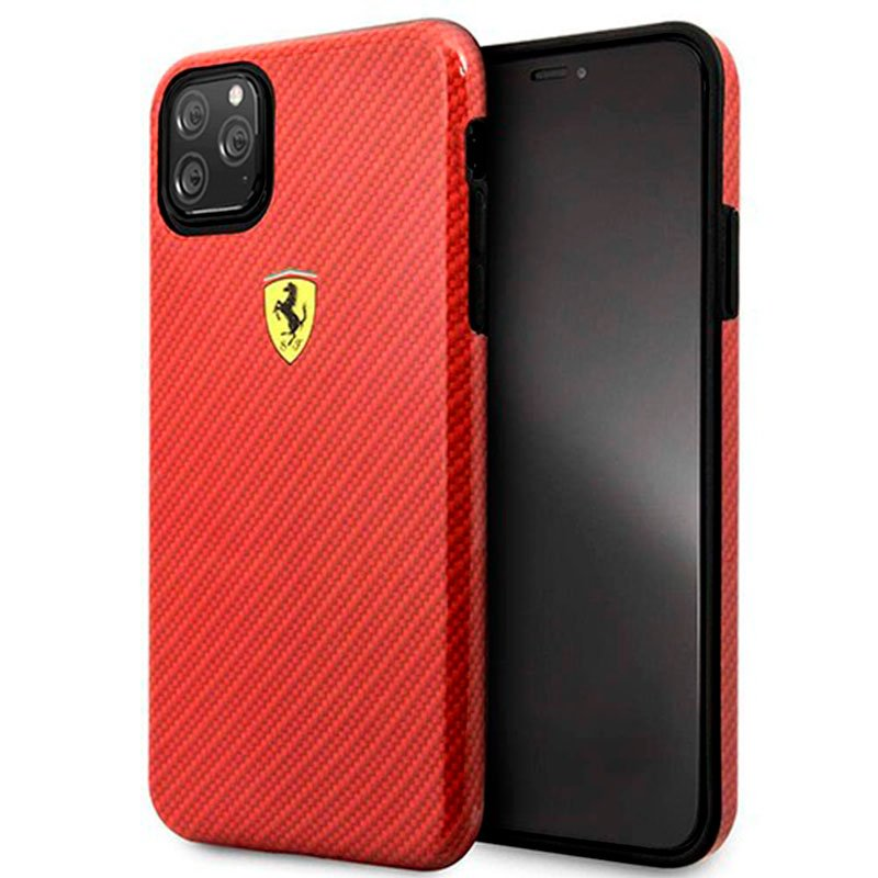 Carcasa iPhone 11 Pro Licencia Ferrari Rojo