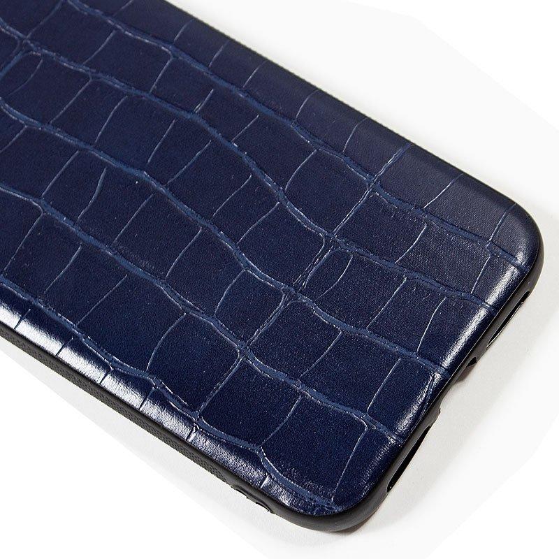 Carcasa iPhone 11 Pro Max Leather Crocodile Marino