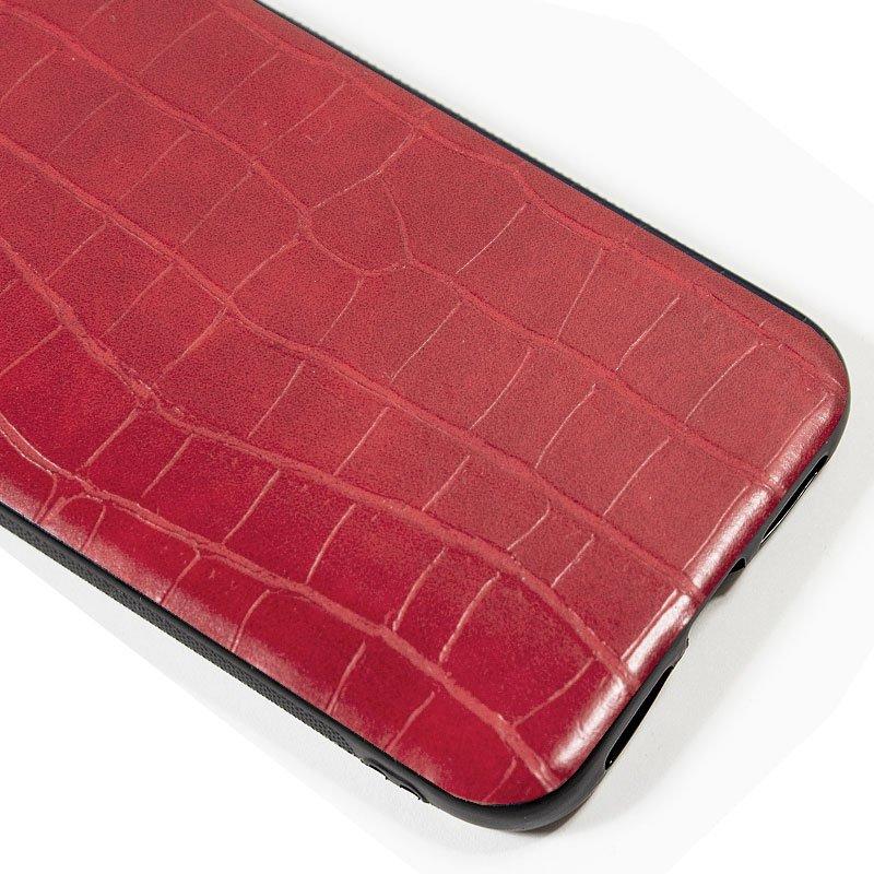 Carcasa iPhone 11 Pro Max Leather Crocodile Rojo