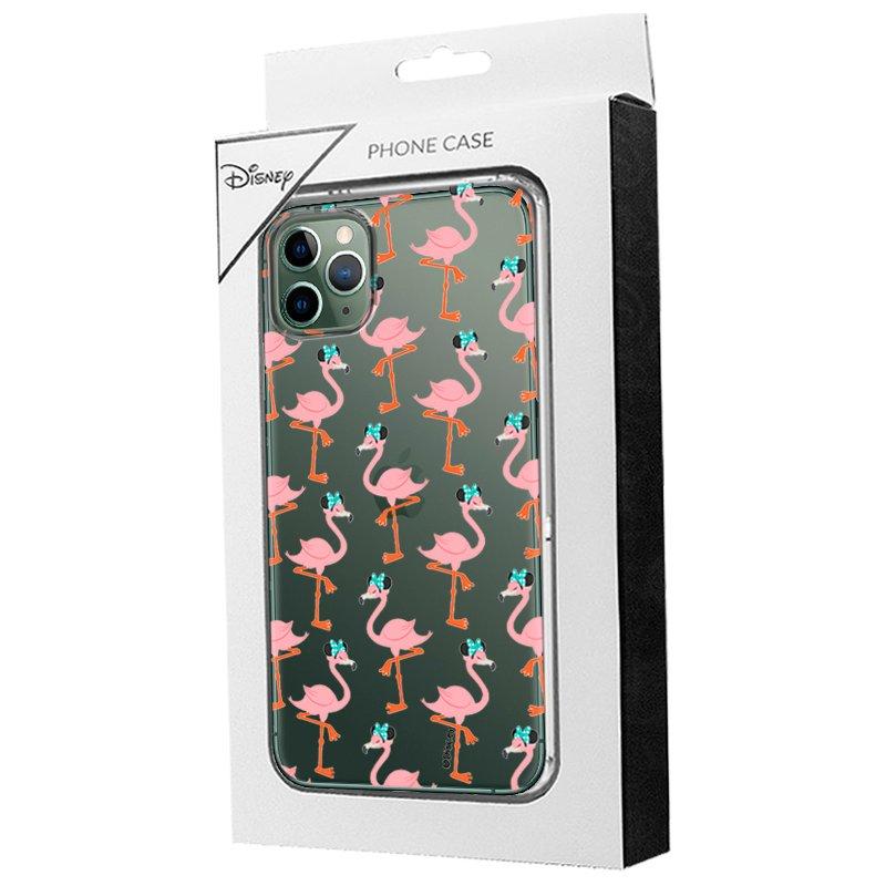 Carcasa iPhone 11 Pro Max Licencia Disney Minnie Flamencos