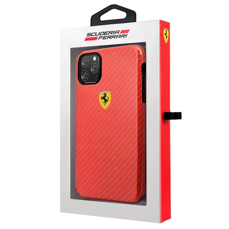 Carcasa iPhone 11 Pro Max Licencia Ferrari Hard Rojo