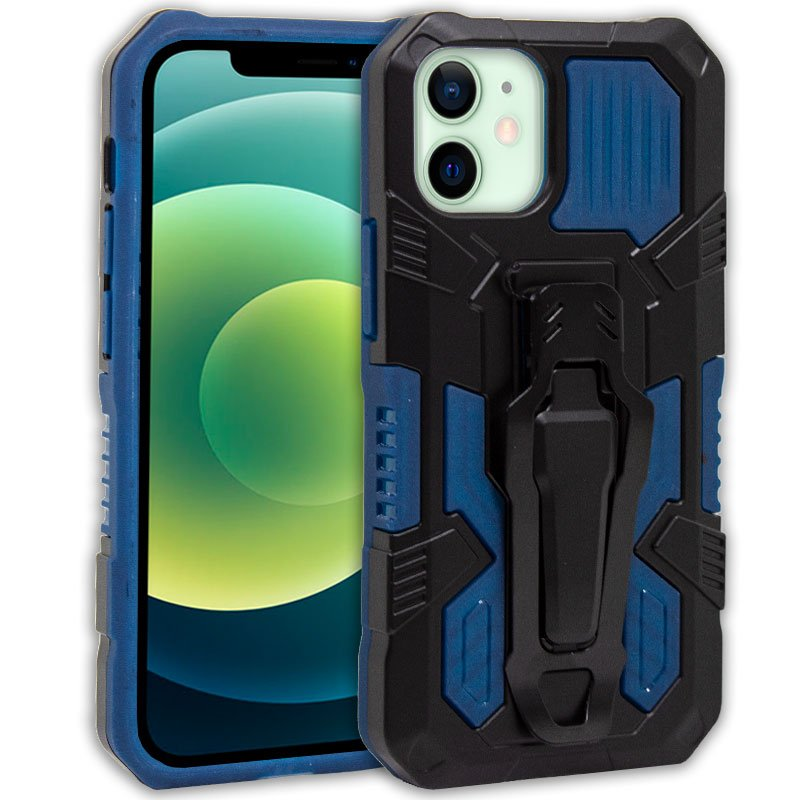 Carcasa iPhone 12 / 12 Pro Hard Clip Marino