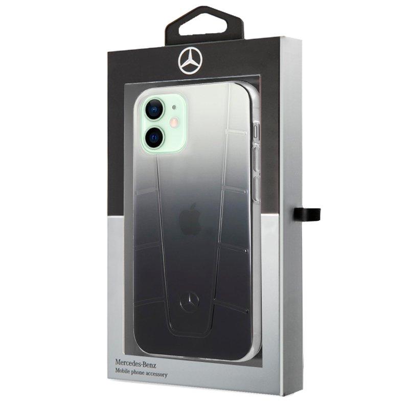 Carcasa iPhone 12 / 12 Pro Licencia Mercedes-Benz Negro Ahumado