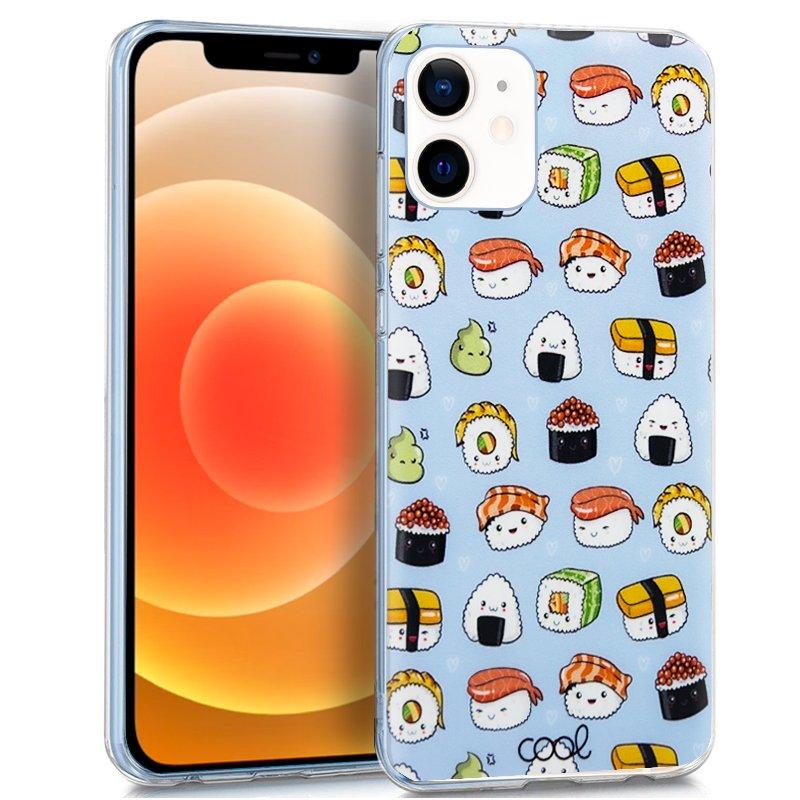 Carcasa iPhone 12 mini Dibujos Sushi