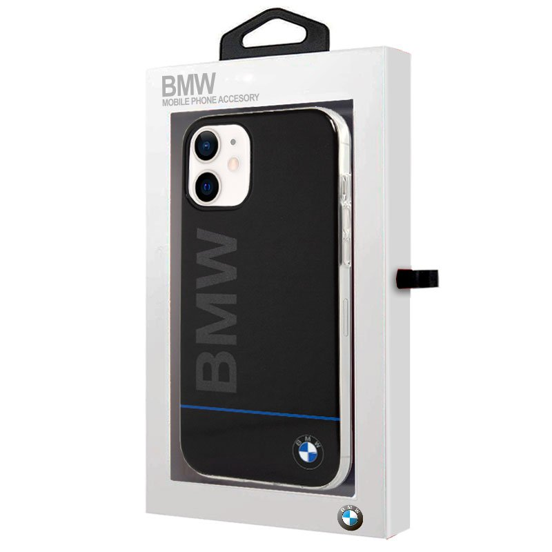 Carcasa iPhone 12 mini Licencia BMW Letras Negro