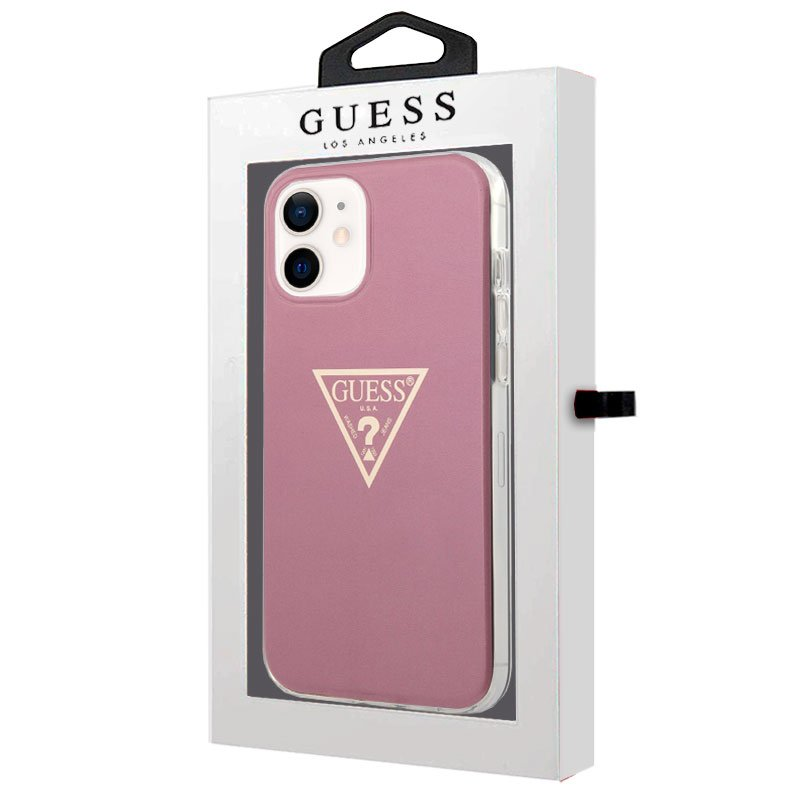 Carcasa iPhone 12 mini Licencia Guess Rosa