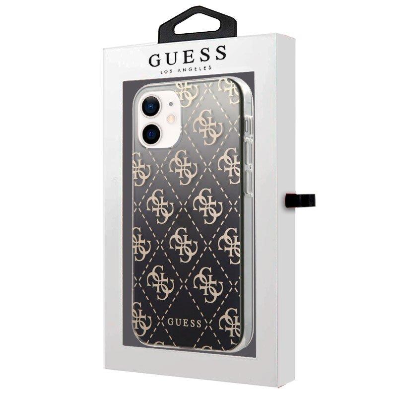 Carcasa iPhone 12 mini Licencia Guess Transparente Logos