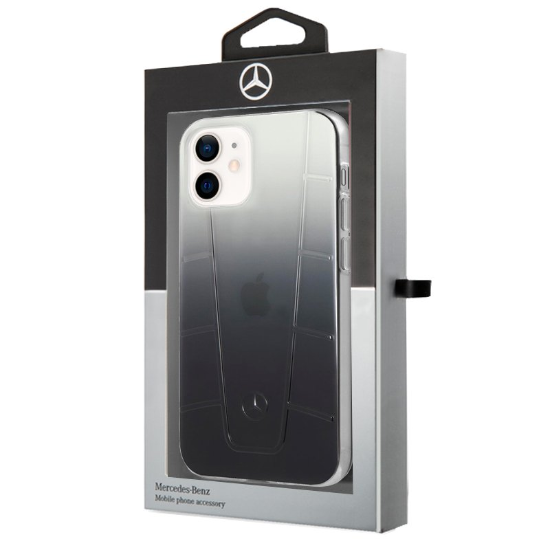 Carcasa iPhone 12 mini Licencia Mercedes-Benz Negro Ahumado