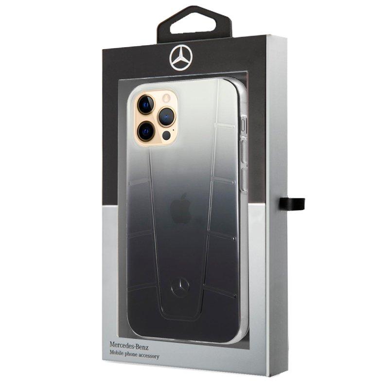 Carcasa iPhone 12 Pro Max Licencia Mercedes-Benz Negro Ahumado