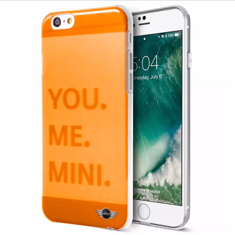 Carcasa iPhone 6 / 6s Licencia Mini Cooper Letras Naranja