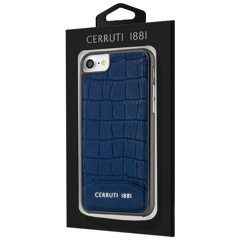 Carcasa iPhone 6 / 7 / 8 / SE (2020) Licencia Cerruti Piel Azul