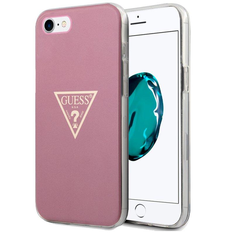 Carcasa iPhone 6 / 7 / 8 / SE (2020) Licencia Guess Rosa