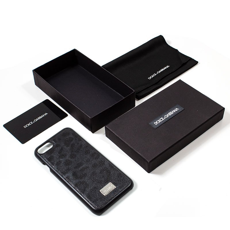 Carcasa iPhone 7 / 8 / SE (2020) Licencia Dolce Gabbana Leopardo