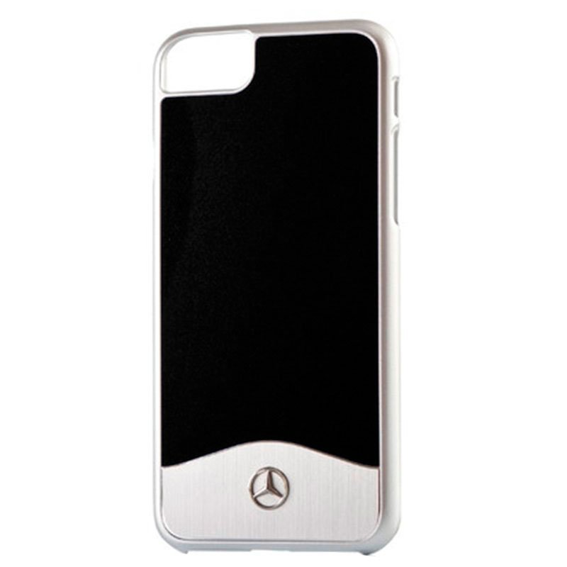 Carcasa iPhone 7 / 8 / SE (2020) Licencia Mercedes-Benz Aluminio Negro