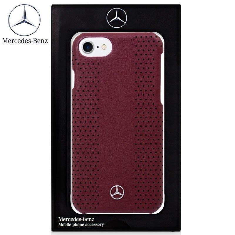 Carcasa iPhone 7 / 8 / SE (2020) Licencia Mercedes-Benz Piel Hard Rojo