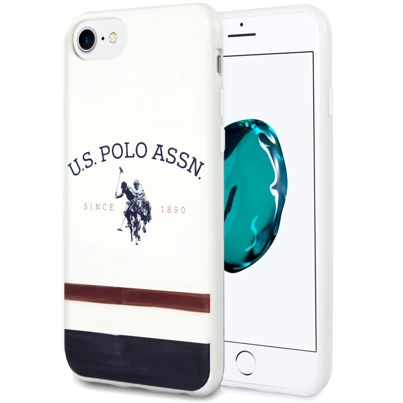 Carcasa iPhone 7 / 8 / SE (2020) Licencia Polo Ralph Lauren Blanco