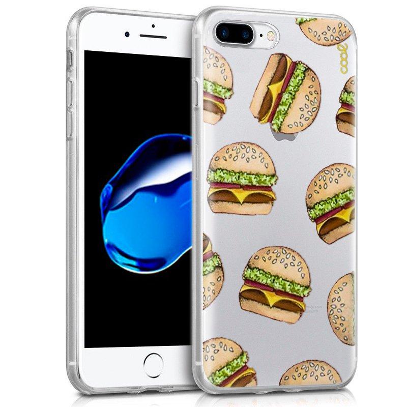 Carcasa iPhone 7 Plus / iPhone 8 Plus Clear Burger