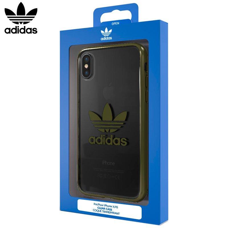 Carcasa iPhone X / iPhone XS Licencia Adidas Transparente