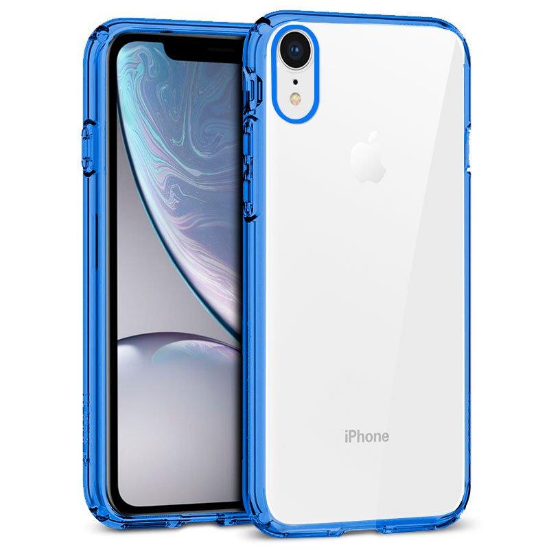 Carcasa iPhone XR Borde Metalizado (Azul)