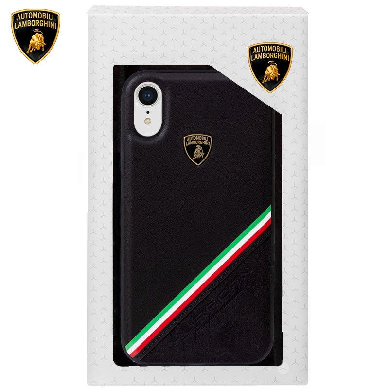 Carcasa iPhone XR Licencia Lamborghini Piel Negro