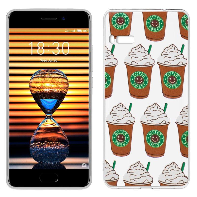 Carcasa Meizu Pro 7 Clear Coffee