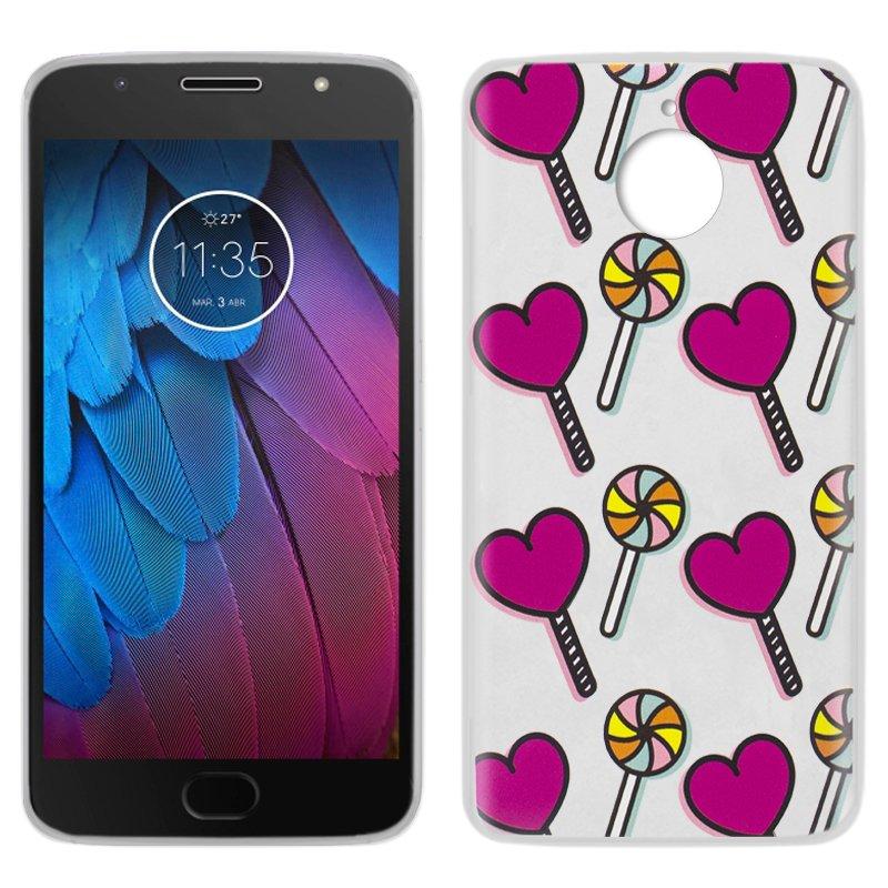 Carcasa Motorola Moto G5S Dibujos Piruletas