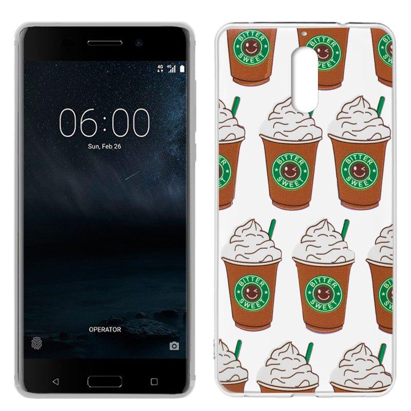 Carcasa Nokia 6 Clear Coffee